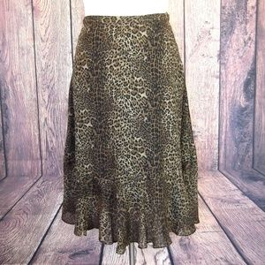 Coldwater Creek Leopard Print Skirt Size XL